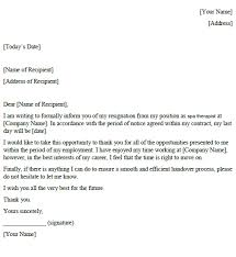 spa the resignation letter