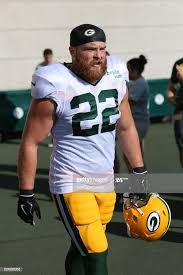 Green Bay Packers fullback Aaron Ripkowski walks onto the field ...