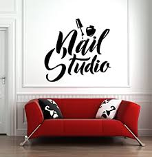 Amazon Com Wall Window Decal Sticker Nail Salon Nails Nail Art Polish Manicure Pedicure Beauty Salon Hs067 Baby