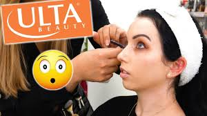 i got my makeup done at ulta and it
