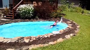 homemade pool you