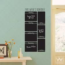 Week Schedule Calendar To Do List Reminder Chalkboard Vinyl Wall Decal Wallternatives