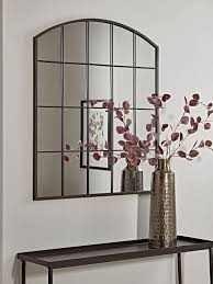 industrial curved top window mirror in