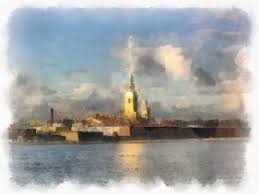 peter and paul fortress painting by
