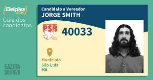 Jorge Smith 40033 PSB (Vereador) São Luís - Guia Eleições 2016