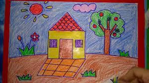 Vẽ ngôi nhà thân yêu của bé [ Dạy bé yêu tập vẽ ] - Collectif-du-chambon