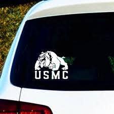 6 Us Marine Corp Usmc Devil Dog Sticker Marines Military Car Decal Die Cut Decal Vinyl Bumper Sticker Cars Trucks Walls Laptop Toolbox Guitar Skateboard Scooter Mug Bottle Geek