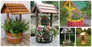 wishing well garden decorations