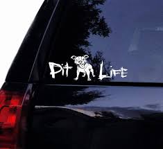 Happy Pit Life Floppy Ears Decal Ultimate Graphic Pit Bull Etsy