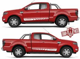 Ford Ranger Pair Of Sport Side Stripes Decal Sticker Vinyl 2x Etsy Ford Ranger Sticker Kits Vinyl Car Stickers