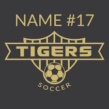 Car Decal Soccer Spirit Spencer Tigers