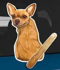Chihuahua Dog And Animal Rear Window Wiper Sticker 10 Inches Tall Ebay