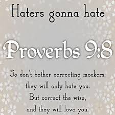 biblical quotes on haters quotesgram quotes about haters