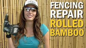 Fencing Repair Rolled Bamboo Is Cure For The Block Wall Blues Youtube