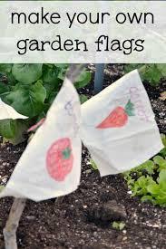diy flag garden markers for kids to make