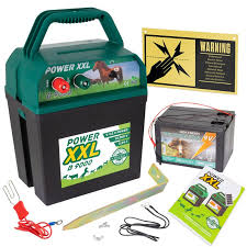 Power Xxl B9000 Electric Fence Hobby Energiser 9 12v Battery Powered Incl 55ah Battery
