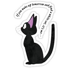 Srbb0889 Jiji The Cat Car Window Decal Sticker Anime Animestickershop