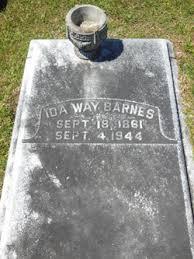 Ida Way Barnes (1861-1944) - Find A Grave Memorial