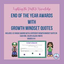 end of the year awards growth mindset quotes