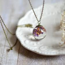 resin jewelry clear orb sphere necklace