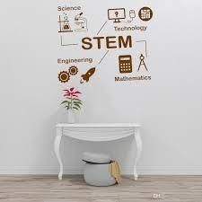 Stem Wall Decal Math Poster Sign Science Vinyl Sticker Classroom Wall Art Murals Modern Home Interior Design Nursery Decals Sticker Decor For Walls Sticker Decorations For Walls From Joystickers 12 66 Dhgate Com