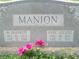 Anne Adeline Lewis Manion (1876-1914) - Find A Grave Memorial