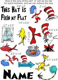 Dr Seuss Cat In The Hat Cranial Band Decoration From High Quality Vinyl For Baby Helmets
