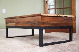 reclaimed wood lift top coffee table