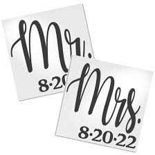 Mr And Mrs Decals For Cup Decals By Adavis