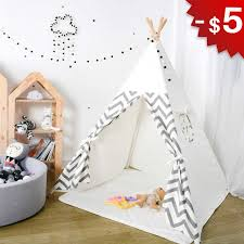 Baby Tent Toys For Children Play Room House For Kids Wigwam Foldable Indoor Outdoor Tipi Tent Birthday Gift 4 Poles Photography Teepee Tent Indoor Teepee Tentskids Room Tent Aliexpress