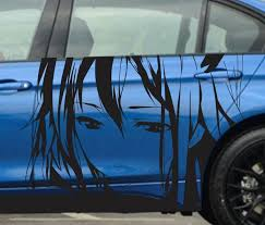 Left Side Car Stickers Japanese Cartoon Anime Whole Body Sticker Styling Decal Accessories High Quality Waterproof Sunscreen Stickers Japanese Car Stickercar Stickers Cartoon Aliexpress