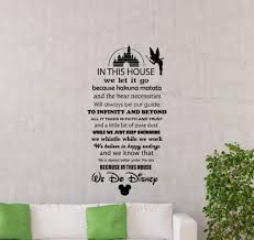 Amazon Com In This House We Do Disney Wall Decal Sign Walt Disney Quote Lettering Gift Cartoon Vinyl Sticker Home Gift Nursery Playroom Kids Baby Room Wall Art Stencil Decor Mural Removable Poster