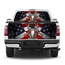 American Flag Deer Rifle Tailgate Wrap Window Decal Ecoview Media