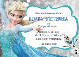 Frozen Invitaciones Digitales Be Green