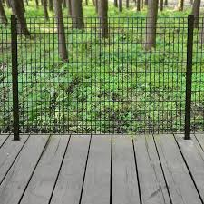Black Powder Coated Steel Fence Panel