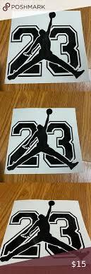Michael Jordan 23 Decal Sticker Size 8 In 2020 Handcrafted Accessories Michael Jordan Decals Stickers