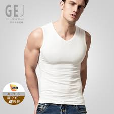 Buy Modal mens v-neck vest broad shoulders round neck tight undershirt  sports vest bottoming solid color underwear summer and autumn in Cheap  Price on Alibaba.com