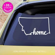 Amazon Com Montana State Home Decal Mt Home Car Vinyl Sticker Add A Heart Over Billings Missoula Great Falls Bozeman Helena Handmade
