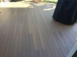 lay deck flooring on a concrete patio