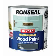 Ronseal Grey Satin Wood Paint 2 5l Departments Diy At B Q