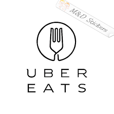 2x Uber Eats Logo Vinyl Decal Sticker Different Colors Size For Cars M D Stickers