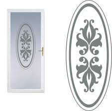 Front Door Etched Glass Vinyl Decal Frosted Film Decals Oval 06b