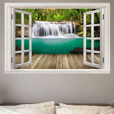 Window Mural Green W20 Inch L27 5 Inch Wall Stickers Sale Price Reviews Gearbest
