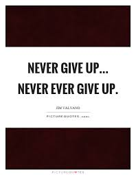 never give up never ever give up picture quotes