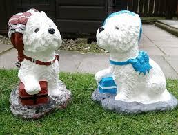 westie sculpture stone garden ornaments