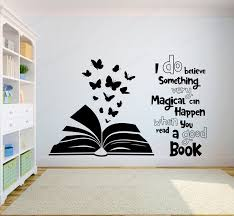Best Sale 7200 Book Quote Wall Decal Library Read A Good Book Wall Sticker Vinyl Reading Room Bedroom Wall Decor Jh507 Cicig Co