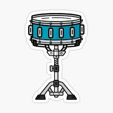 Snare Drum Stickers Redbubble