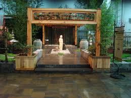 contemporary japanese tea house garden