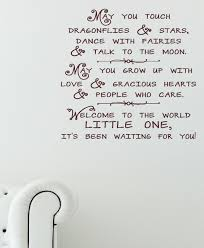 Dragonflies And Stars Wall Decal Quote Vinyl Stickers For Nursery Room Decor 23x22