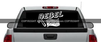Rebel With Confederate Flag American South Car Stickers Country Western Vinyl Window Decals Dixieland